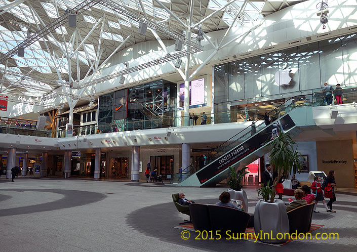 Shopping in london an american mall comparison sunny in for American cuisine in london