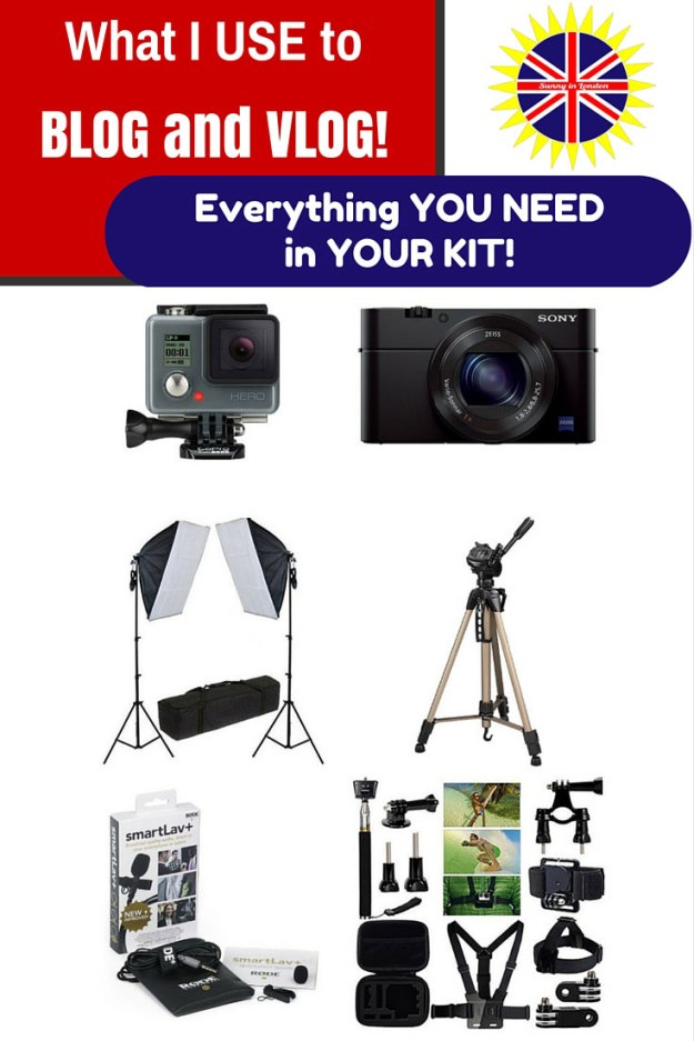 blogger photograpy equipment kit sunny in london vlogger