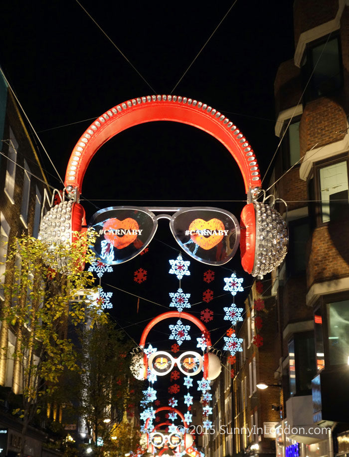 Things to Do in London at Christmas Carnaby Sreet Shopping
