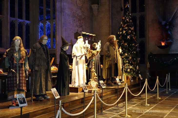 Hogwarts in the Snow Harry Potter Studio Tour in London for Christmas The Great Hall