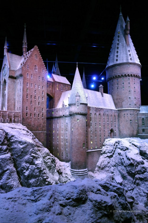 Hogwarts in the Snow Harry Potter Studio Tour in London for Christmas Scale Model Castle