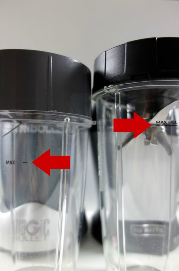 Nutribullet vs Ninja Bullet Blender Comparison Fill Line Product Review