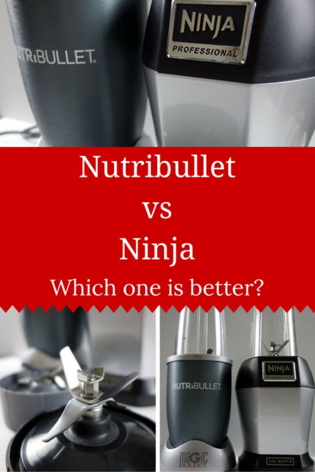The Nutribullet vs Ninja Bullet a comparison and product review of the blenders