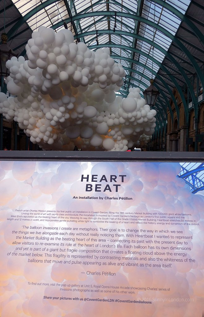 Covent Garden Guide Things to Do Attractions Heart Beat Art Installation