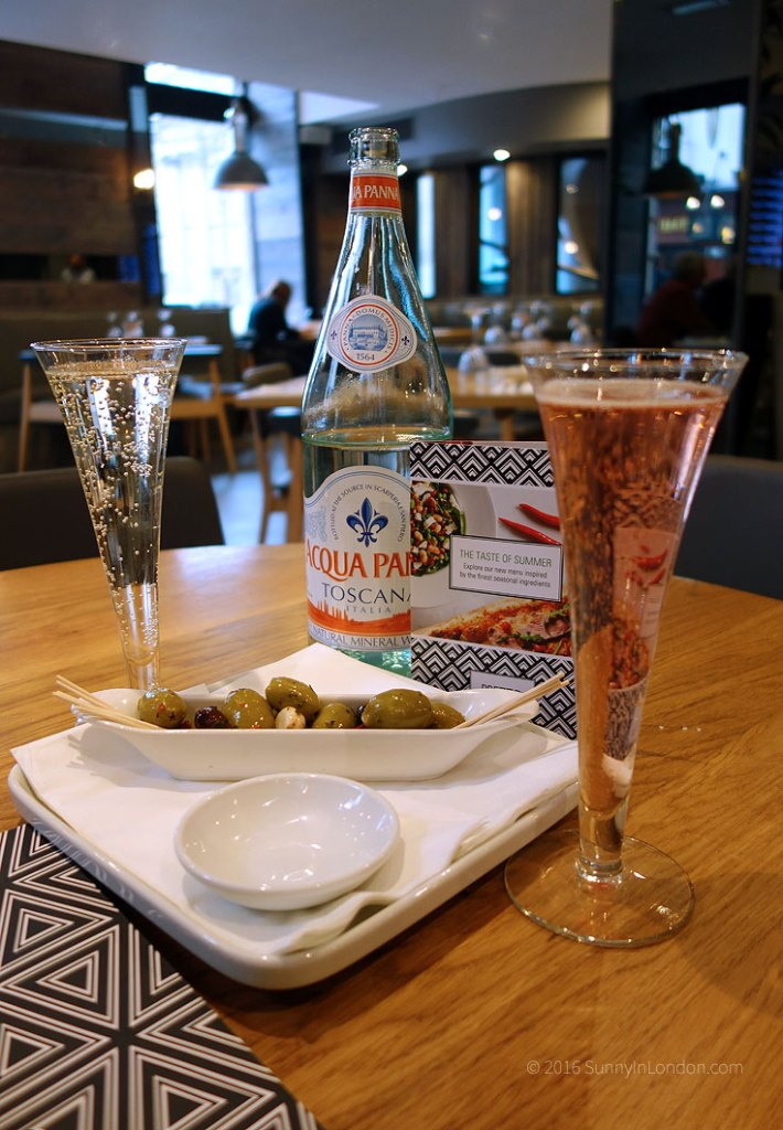 Prezzo London Review of St Martin's Lane and Gluten Free Menu