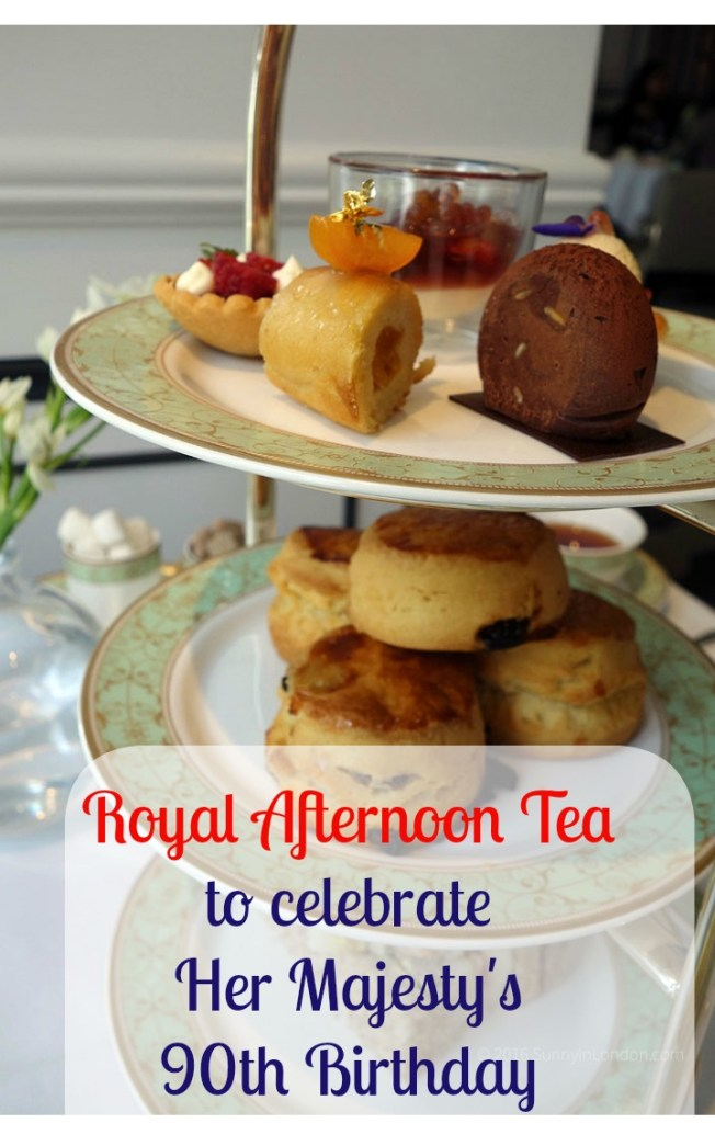 Grosvenor House Afternoon Tea Hyde Park London for Queen's 90th Birthday