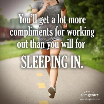 Working OUt vs Sleeping In
