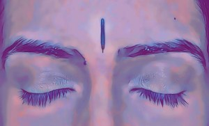 Acupuncture point Yin Tang is located midway between the eyebrows