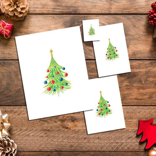 Watercolor Christmas Trees