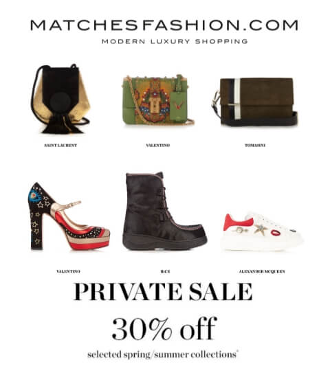 matchesfashion private sale 20170512
