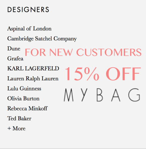 mybag new customer 15off