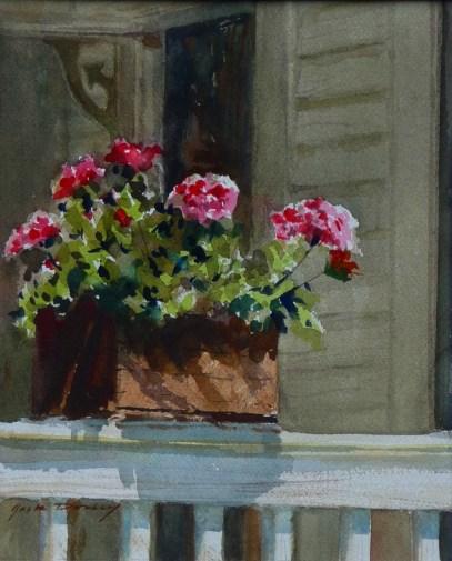 jack-dorsey_back-porch-geraniums_-watercolor