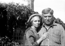 Fanny and Fred Cooney, ranch house