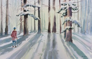 Boy, Woods, Snow (1)