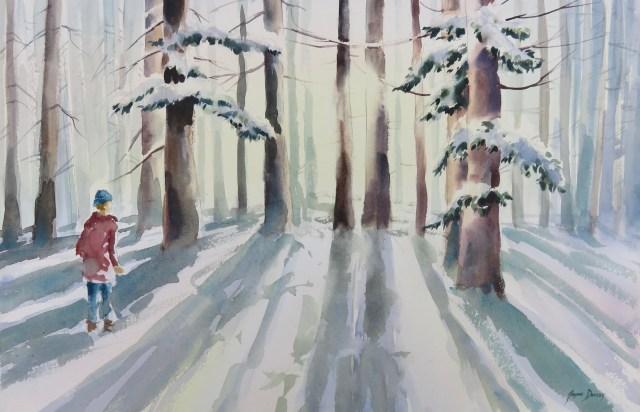 Boy, Woods, Snow