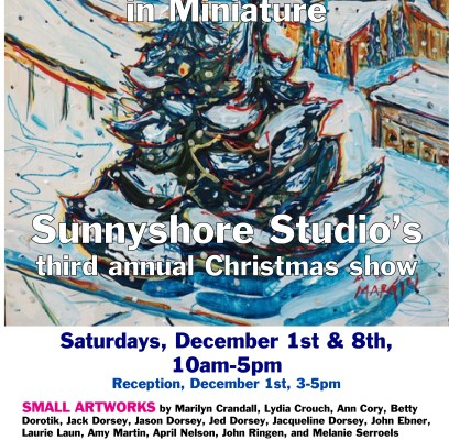 "Lineup of artists for ""Christmas in Miniature"" show"