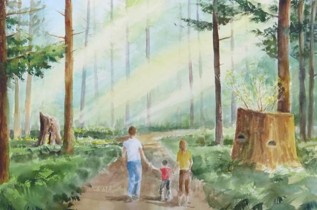 Kids walking to farm in daytime