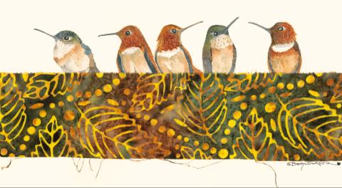 Betty Dorotik's Enchanting Watercolor Birds in the Camano Island Studio Tour