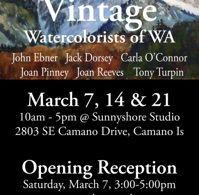 Sunnyshore Studio to partner with NWWS on third annual Vintage Watercolorists of Washington Showcase