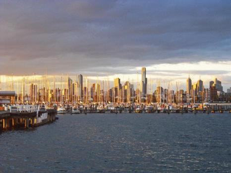Tipps Melbourne Skyline vom Brighton Beach