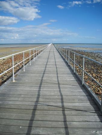 Roadtrip Australien Holzsteg Port Germein