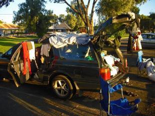 Roadtrip Australien Auto Wäsche