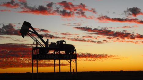 Roadtrip Australien Coober Pedy Sonnenuntergang