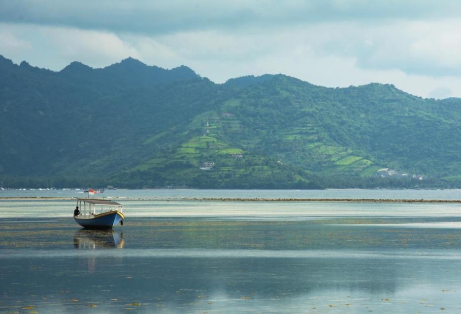 Schiff auf Gili Air