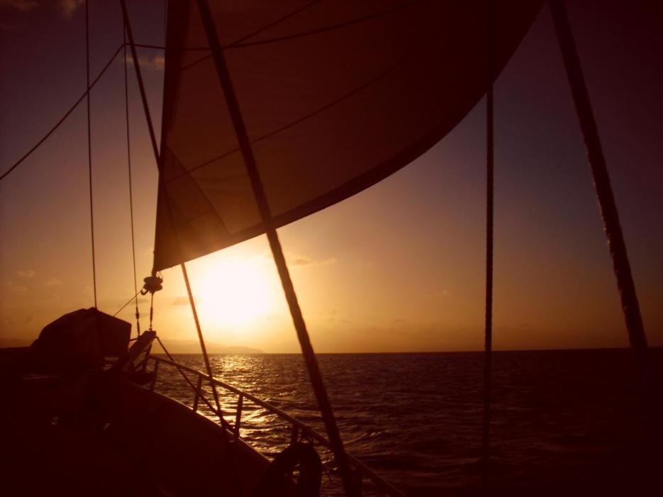 Australische Inseln Ostküste Sonnenuntergang Whitsundays