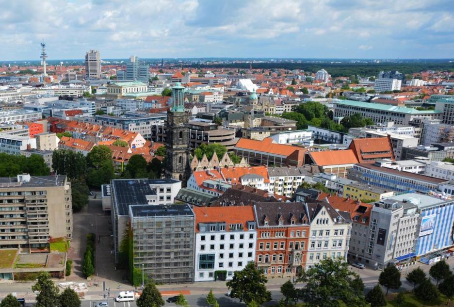 Blick über die Stadt Hannover
