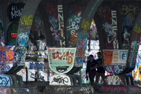 wien tipps: graffitis am donaukanal