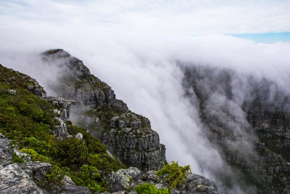 Wolken Table Mountain Tafelberg Kapstadt
