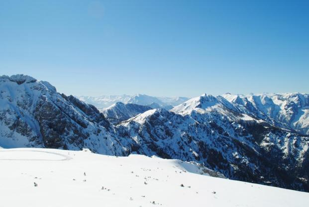 Hinterstoder Österreich Skigebiet Panorama