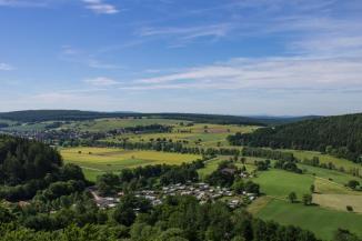 Erlebniswald Schönhagen Aussicht vom Klimaturm