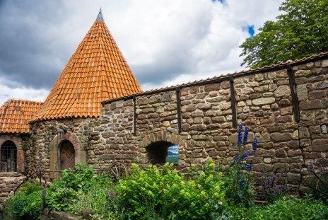 Leuchtenburg Thüringen Burgmauer