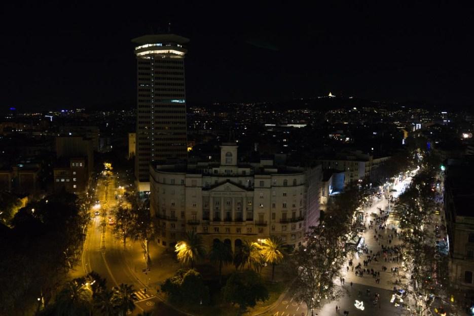 5 Tage Barcelona Kolumbussäule Aussicht