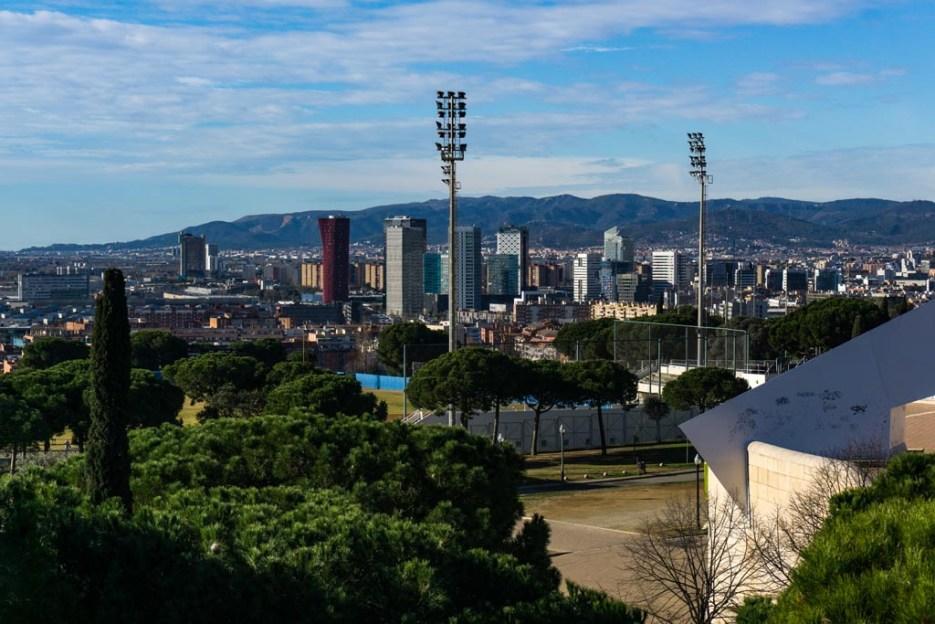 Kurztrip Barcelona Olympiapark Aussicht