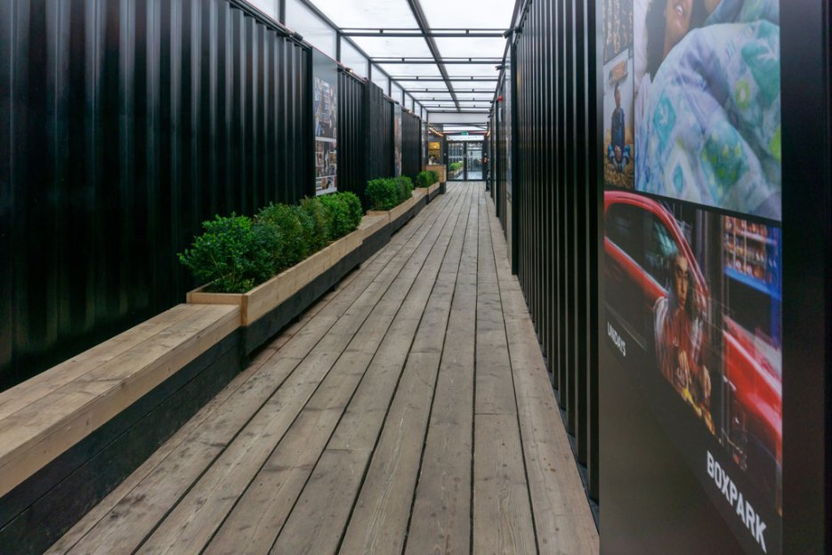 london bei regen boxpark