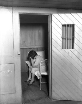 Inside women's jail at Ingleside: women in cell. From http://www.sfsdhistory.com.