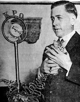 "Lyle Tucker, host of ""Big Brother"" on KPO in the 1920s. From BayAreaRadio.org."