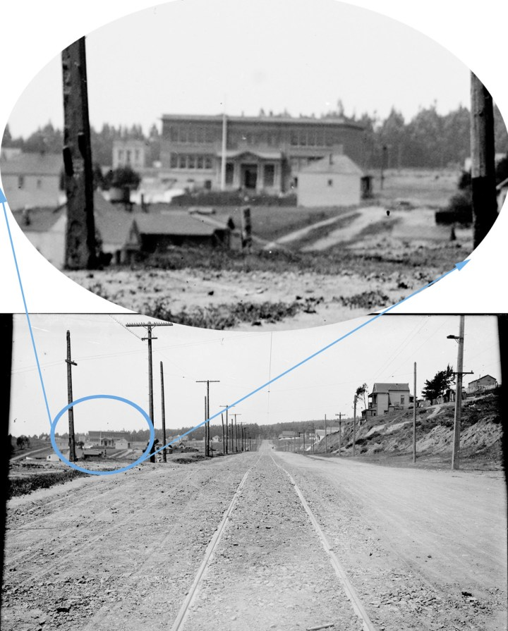 Sunnyside Avenue, West from Detroit Street, 1909. School is marked. Courtesty of SFMTA, sfmta.org/photoshelter.