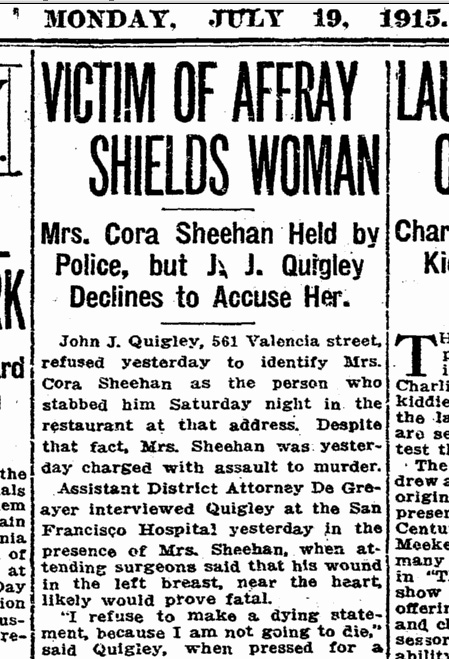 SF Chronicle, 19 July 1915, p.8.