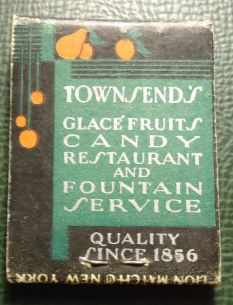 Matchbook from the Townsend's restaurant.