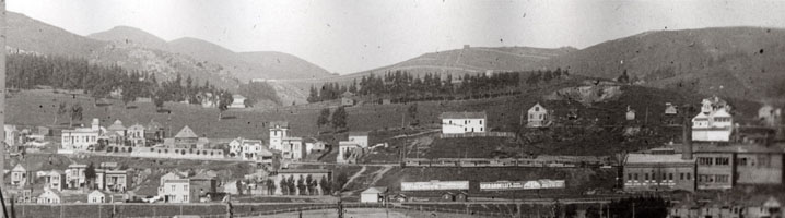 Panorama photo of Sunnyside about 1905. Courtesy of Jacqueline Proctor, Mt Davidson.org.