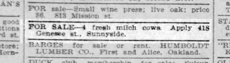SF Call, 14 Oct 1905.