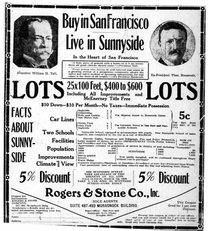 Oakland Tribune, Mar 1909. From Newspapers.com.