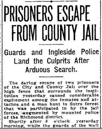 SF Chronicle, 30 Aug 1912.