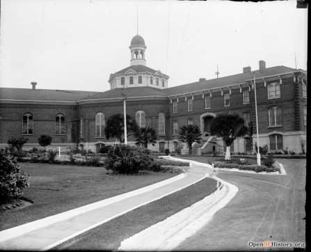 Ingleside Jail (men's) in 1920s. From southeast corner of compound. OpenSFHistory WNP30.0129