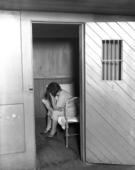 Inside women's jail at Ingleside: women in cell. From http://www.sfsdhistory.com.