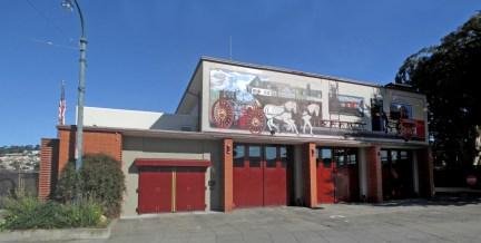 2018. SF Fire Dept Station 15 at 1000 Ocean Avenue, San Francisco. Photo: Amy O'Hair